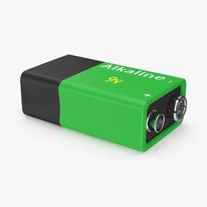 9v batteries 9 3d model