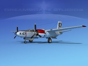 3d radial douglas invader bomber