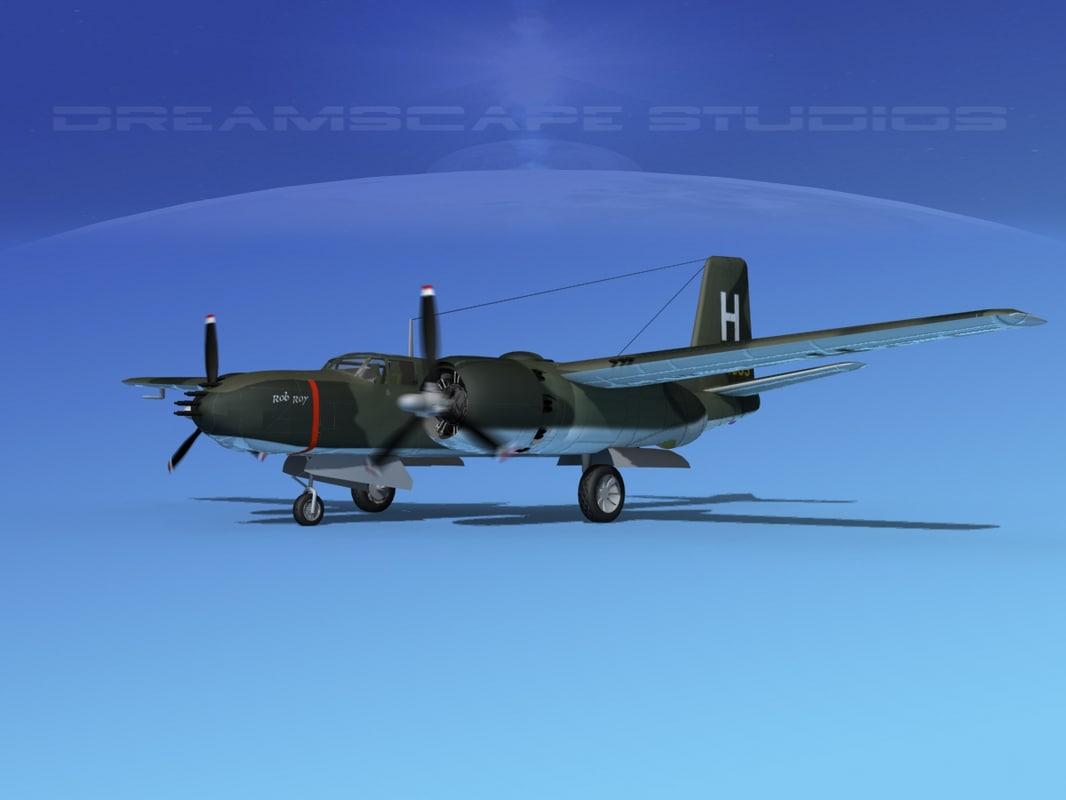3d radial douglas invader bomber model