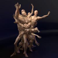 3d human creature