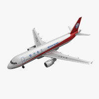airbus a320 sichuan airlines 3d model