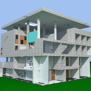 shodan house modern 3d model
