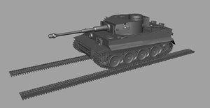 tiger tank obj