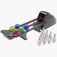 3d model bowling set