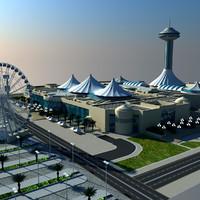 marina mall abu dhabi 3d obj