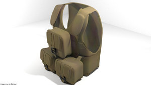 armour vest 3d model