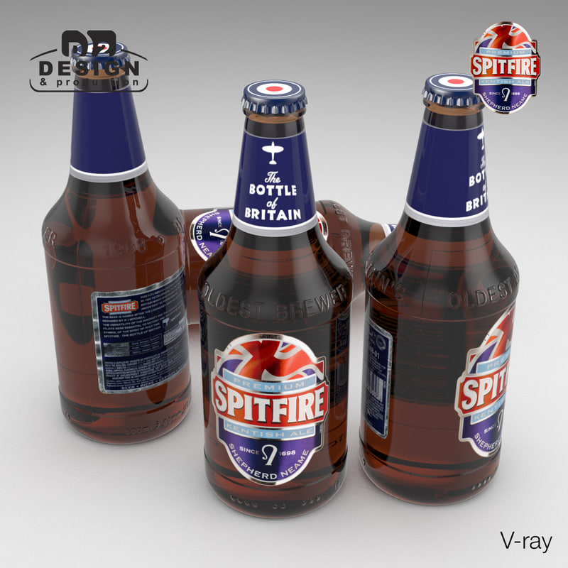 3d model beer bottle ale