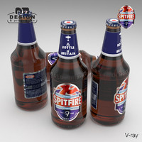 beer bottle shepherd neame 3d model