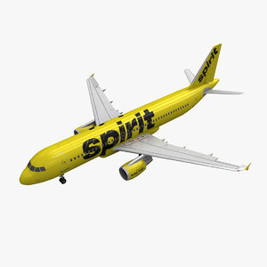 3d airbus a320 spirit airlines