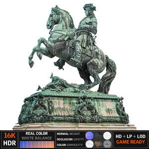 3d horse statue ultra hd