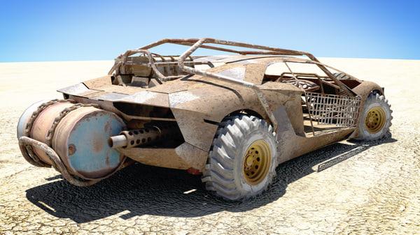 3d rusty dune buggy model