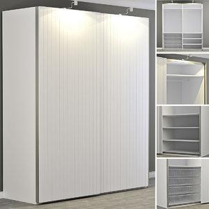 wardrobe bergsfjord pax 3d max