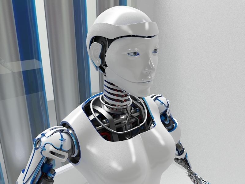 3d robot woman d2016 model