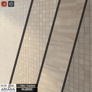 3d max tile ariana fluido mosaico