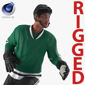3d model hockey player generic rigged