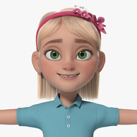 Cartoon Girl Teen Anna