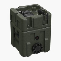 3d model military lithium battery box