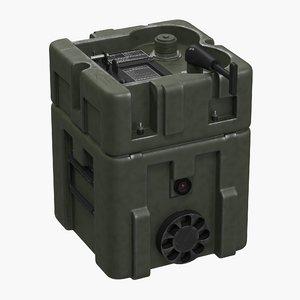 3d model military lithium battery box
