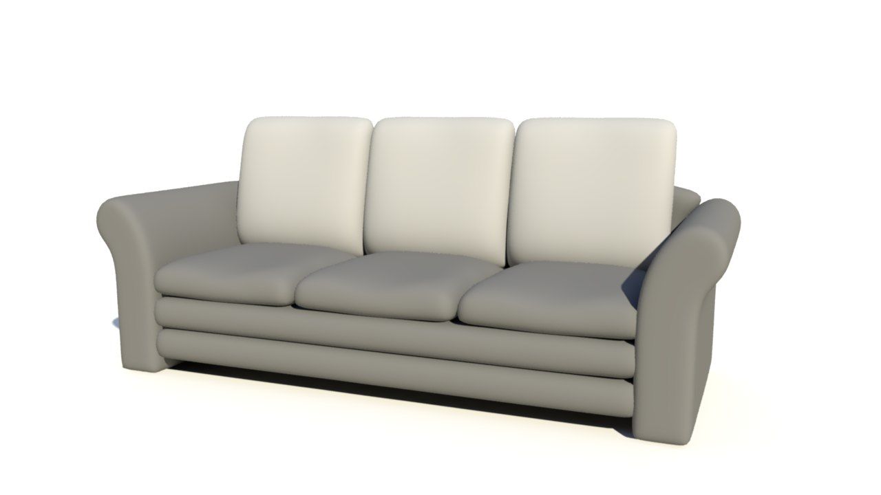 simple couch 3d obj