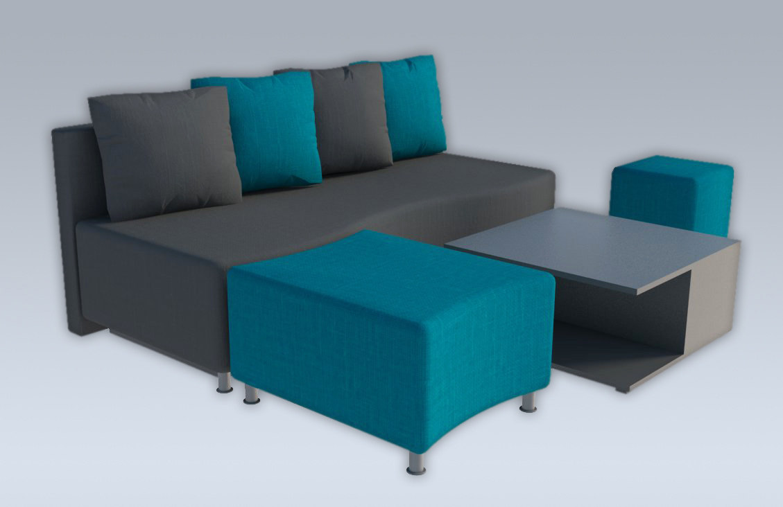 simple sofa modern 3d obj