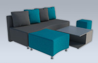 simple sofa modern 3d obj