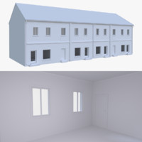 european building interior 3d obj