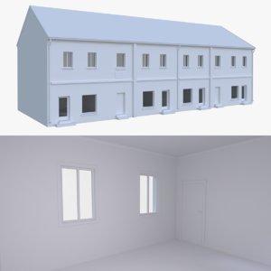 european building interior 3d obj