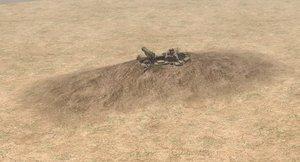 3D foxhole military atgm model