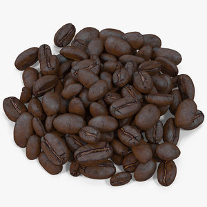 roasted coffee bean 8 3d max