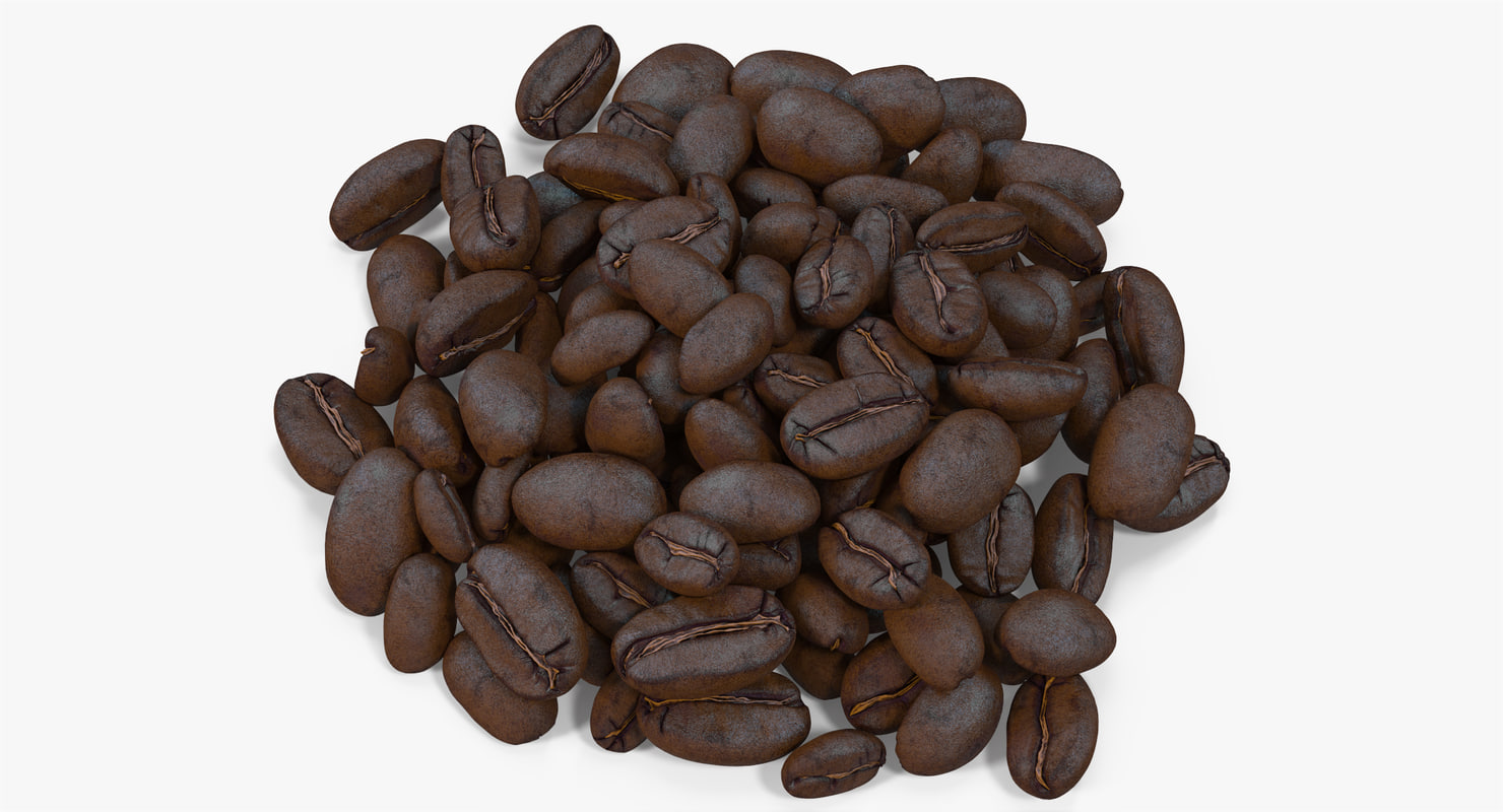 roasted coffee bean 8 3d max