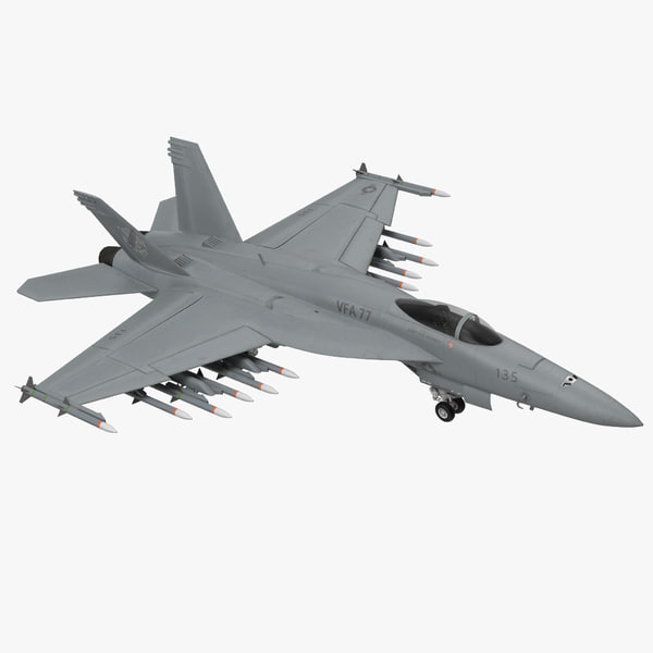 3d fighter fa-18ef super hornet