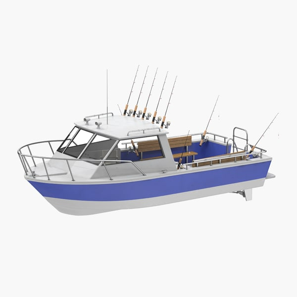 fishing boat 3d c4d