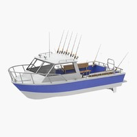 fishing boat 3d c4d