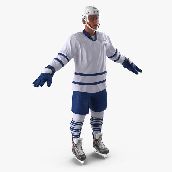 3d hockey player generic 3