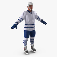 3d hockey player generic 3