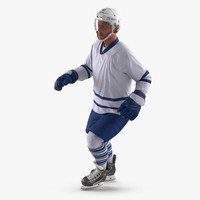 Hockey Player Generic 4 Rigged