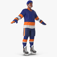hockey player generic 4 3d c4d