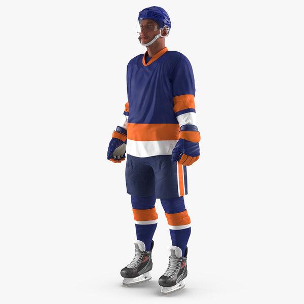 3d hockey player generic 5