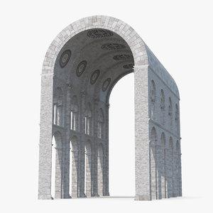 3d model barrel vault greco roman