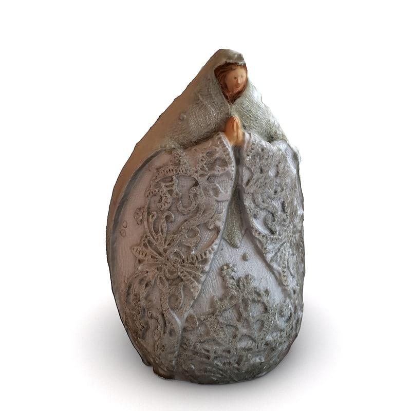 3d christmas figure maria