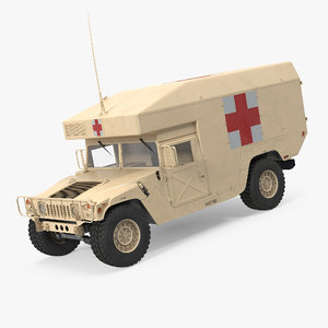 3d ambulance car hmmwv m997