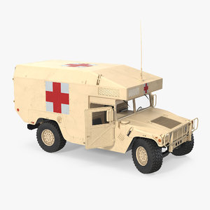 3d model ambulance car hmmwv m997