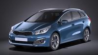 3d model kia ceed 2017