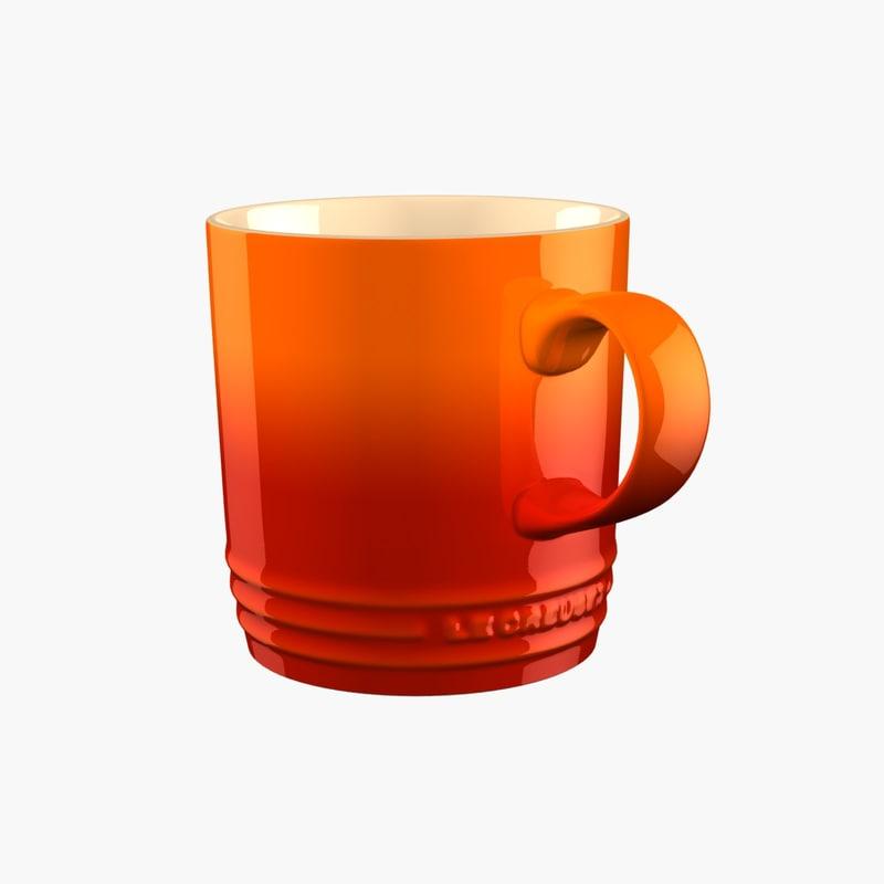 3d model mug le creuset stoneware