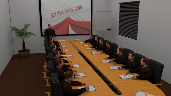 3d meeting room