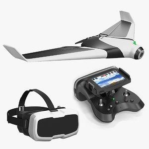 drone parrot disco 3d model