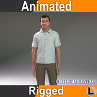 casual cloth rig 3d model