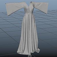 gown designed marvelous 3d model