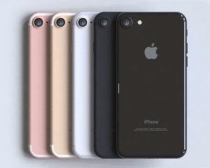 3d model realistic apple iphone 7