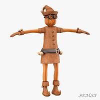 3d elf gnome rigged model